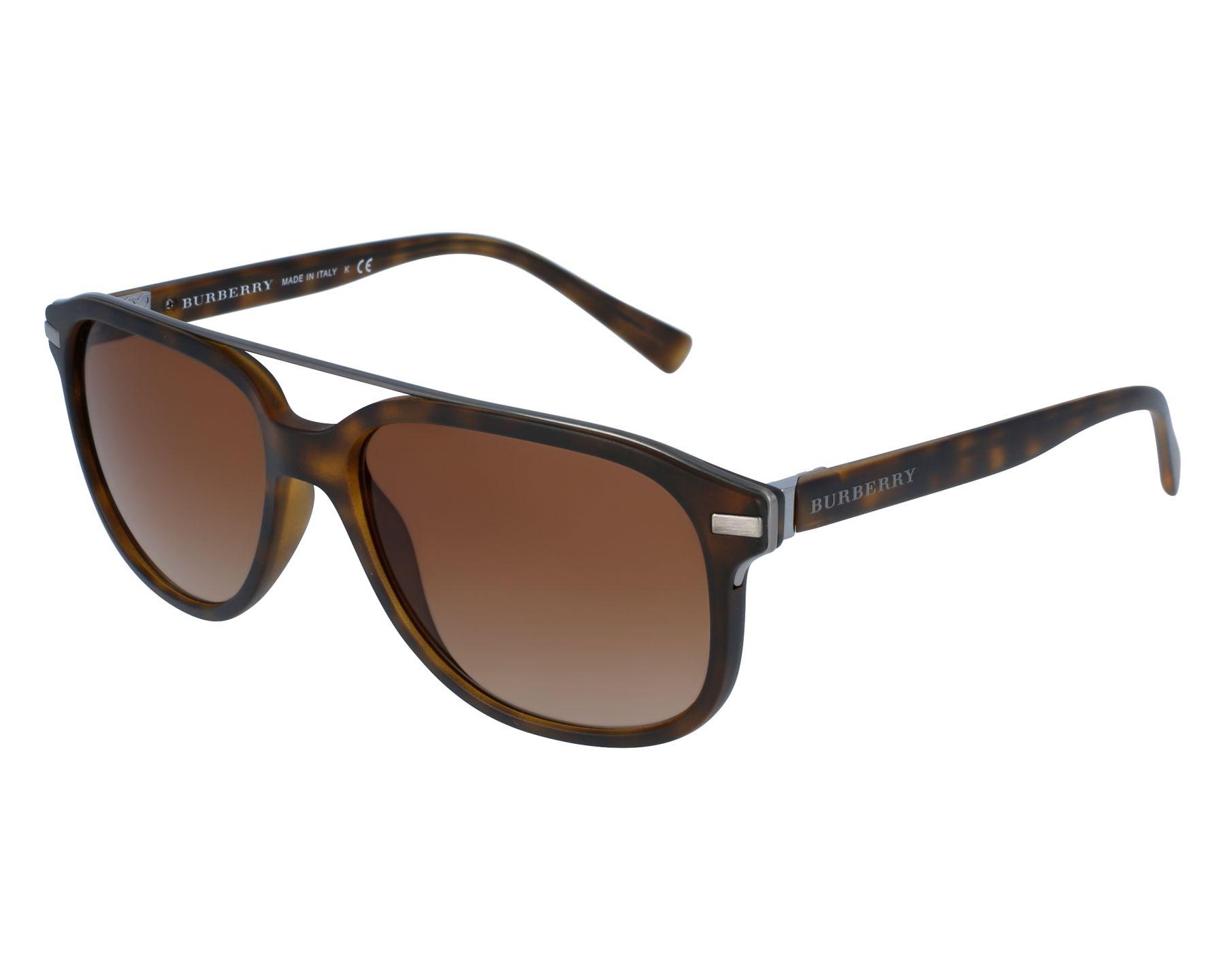 5704bfc8c8 Gafas de sol Burberry BE-4233 3536/13 57-16 Havana Plata vista