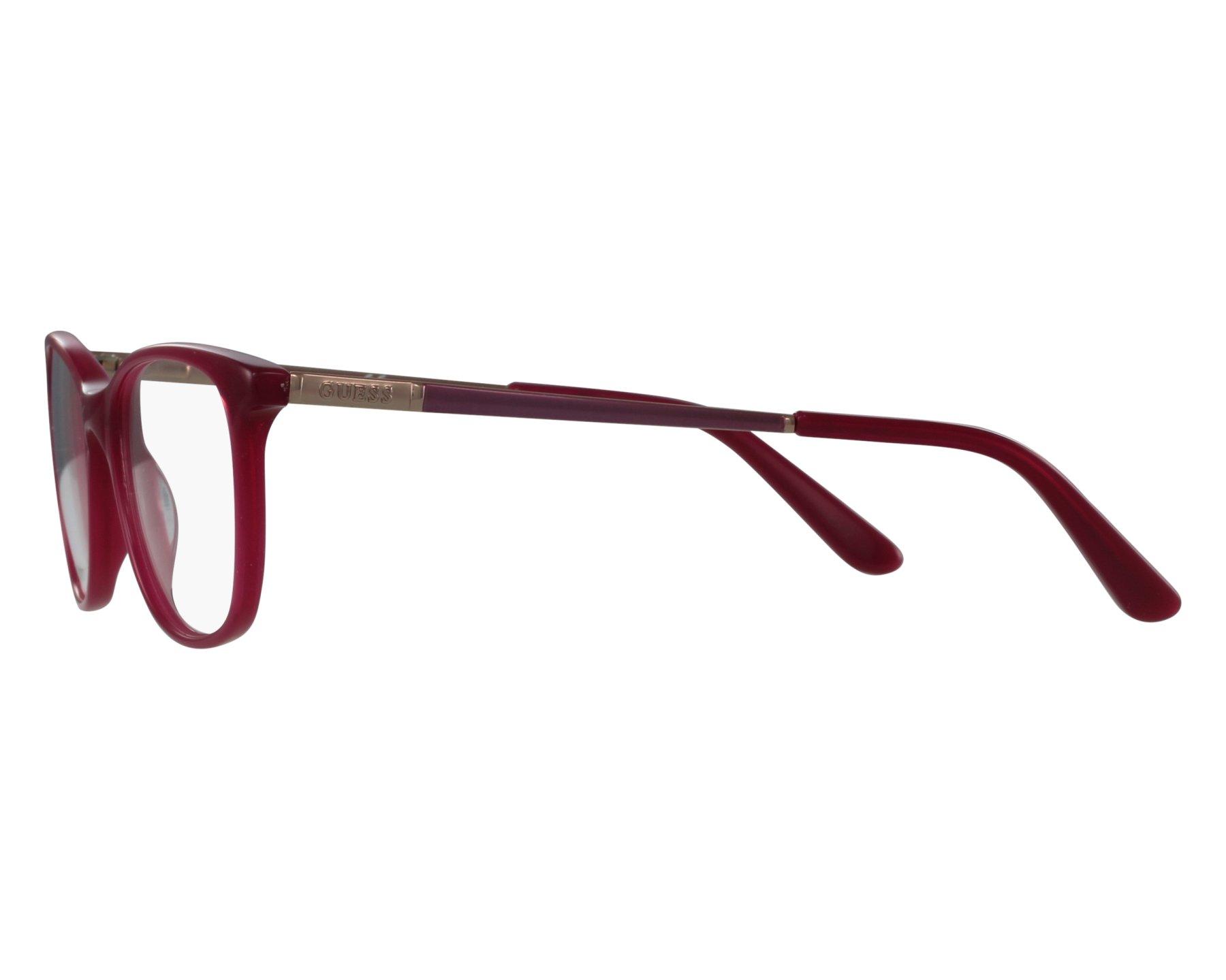 3721630d2d Gafas Graduadas Guess GU-2566 075 49-17 Fuchsia Lila Purpura vista de frente