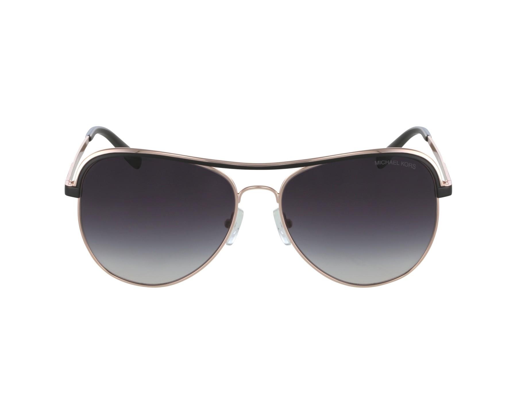 1a20552b55 Gafas de sol Michael Kors MK-1012 1108/36 - Oro cobre Negra vista