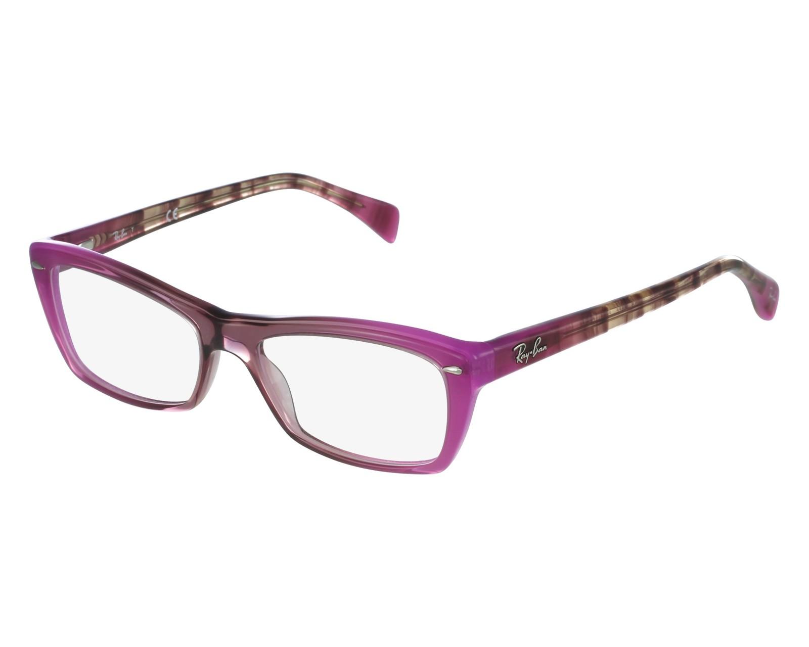 a681cb492a Gafas Graduadas Ray-Ban RX-5255 5489 53-16 Lila Purpura Marrón vista