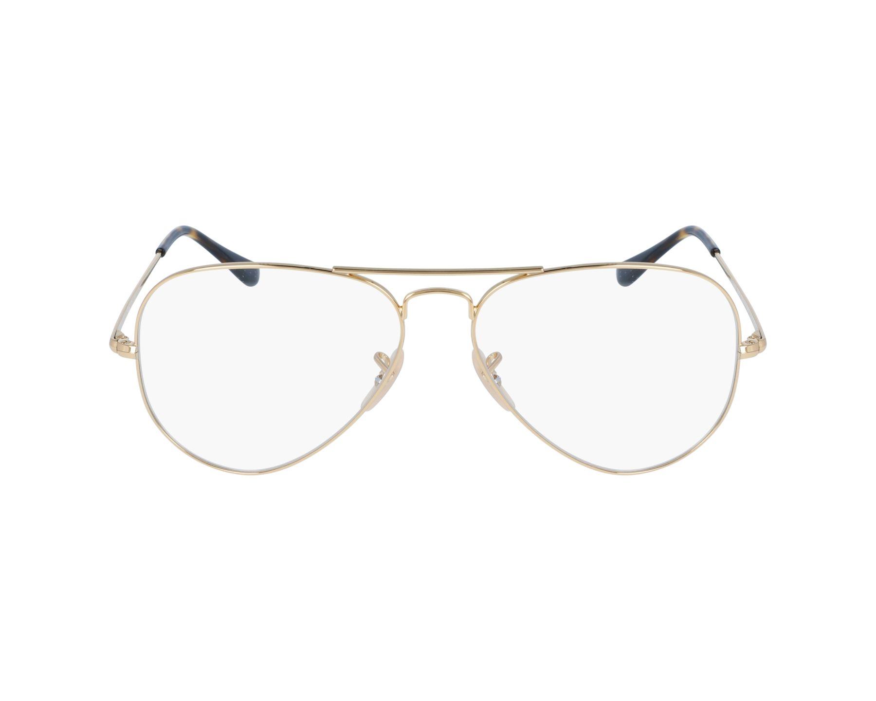 7ec407993e Gafas Graduadas Ray-Ban RX-6489 2500 55-14 Oro vista de perfil