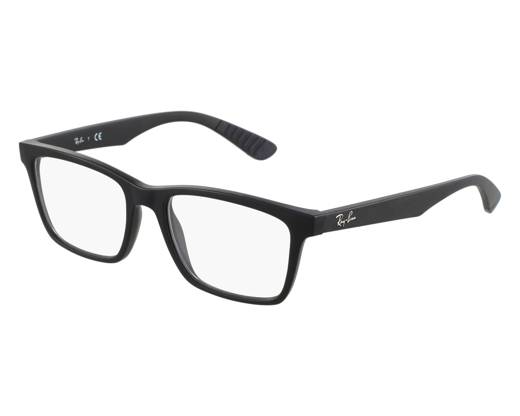 bb78fb2e87930 Gafas Graduadas Ray-Ban RX-7025 2077 53-17 Negra vista de frente