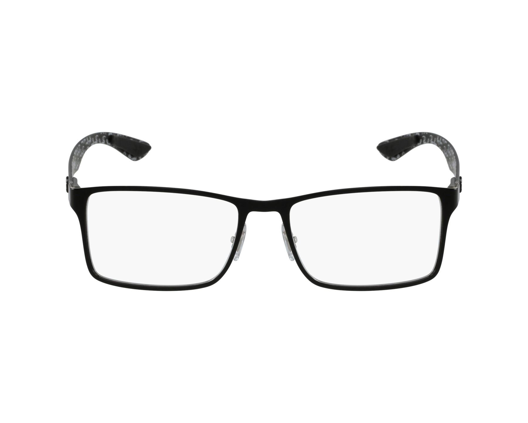 073fe2f05f Gafas Graduadas Ray-Ban RX-8415 2861 - Negra Carbon vista de perfil