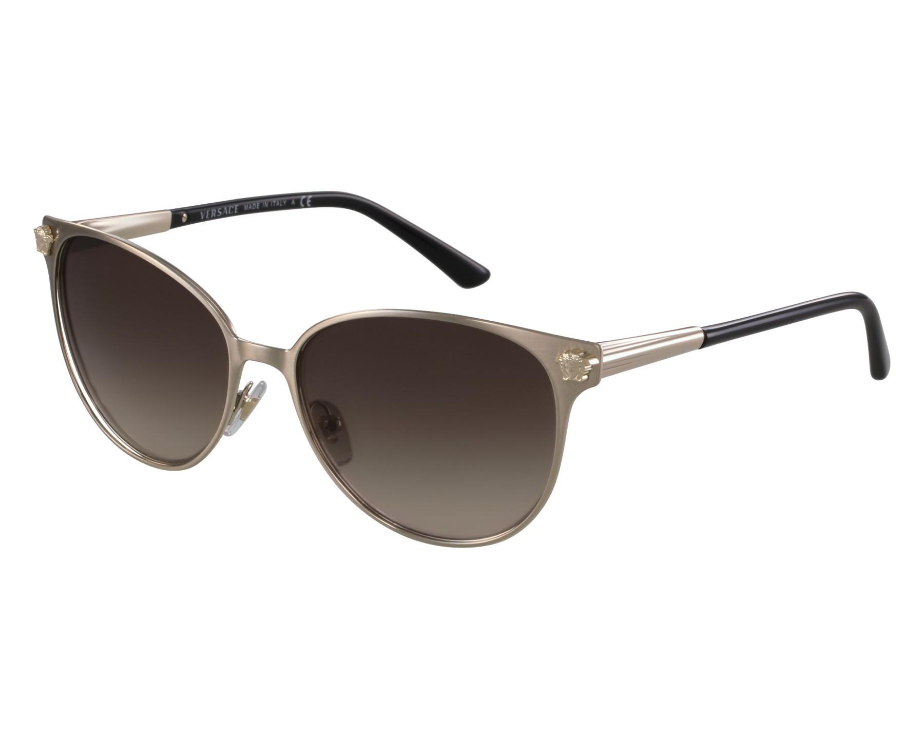 6638ebc1bb Gafas de sol Versace VE-2168 1339 13 57-16 Oro Negra vista