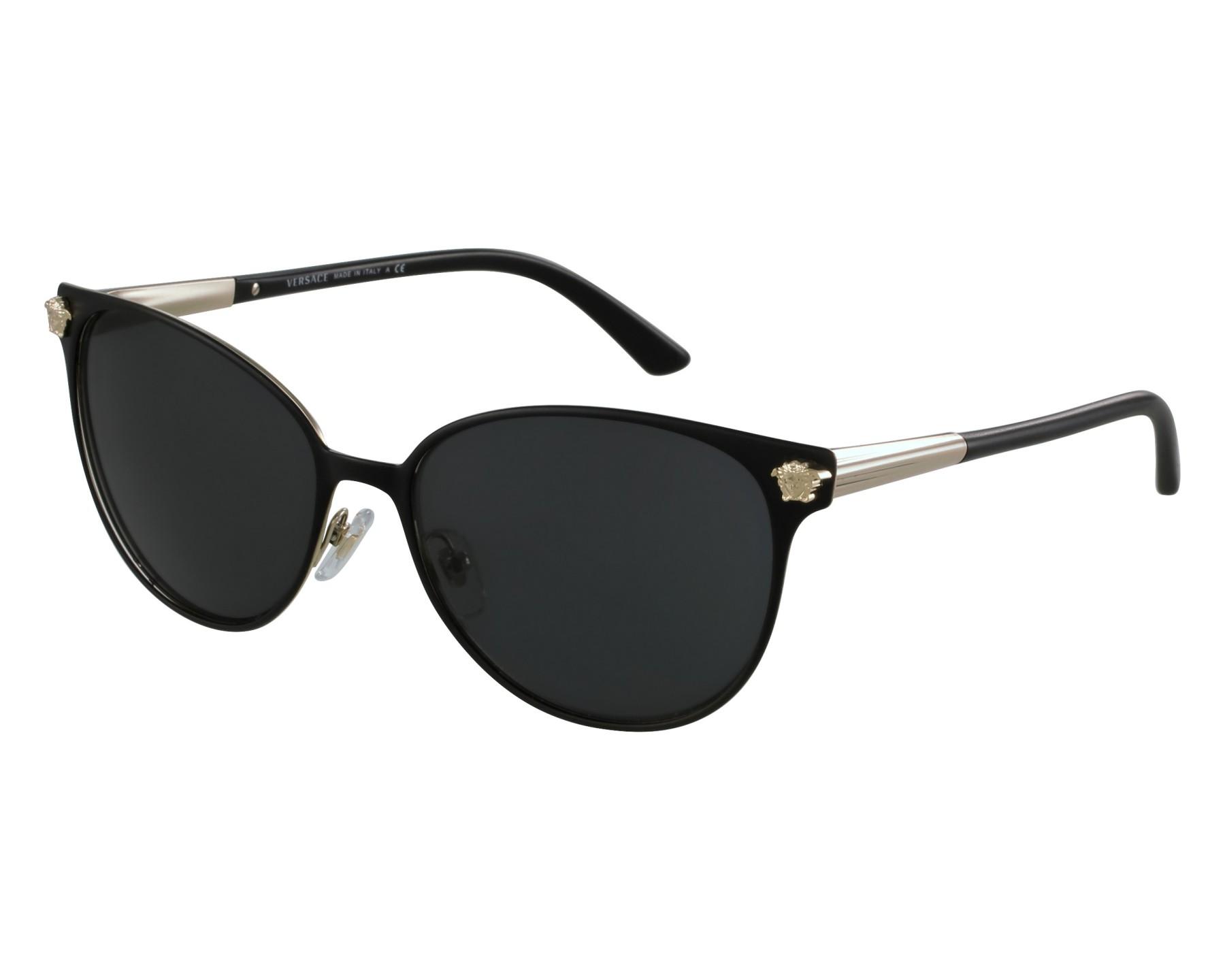 2d8f396a60 Gafas de sol Versace VE-2168 1377 87 57-16 Negra Oro vista