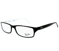 4bcd96bf6d Gafas Graduadas Ray-Ban RX-5114 2097 52-16 Negra Blanco
