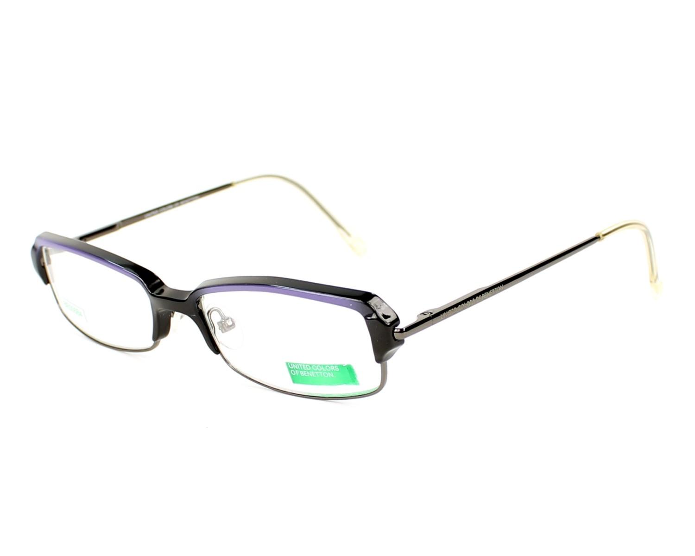 3c854e0bed Gafas Graduadas Benetton BE-005 03-B4 51-15 Negra Lila Purpura vista