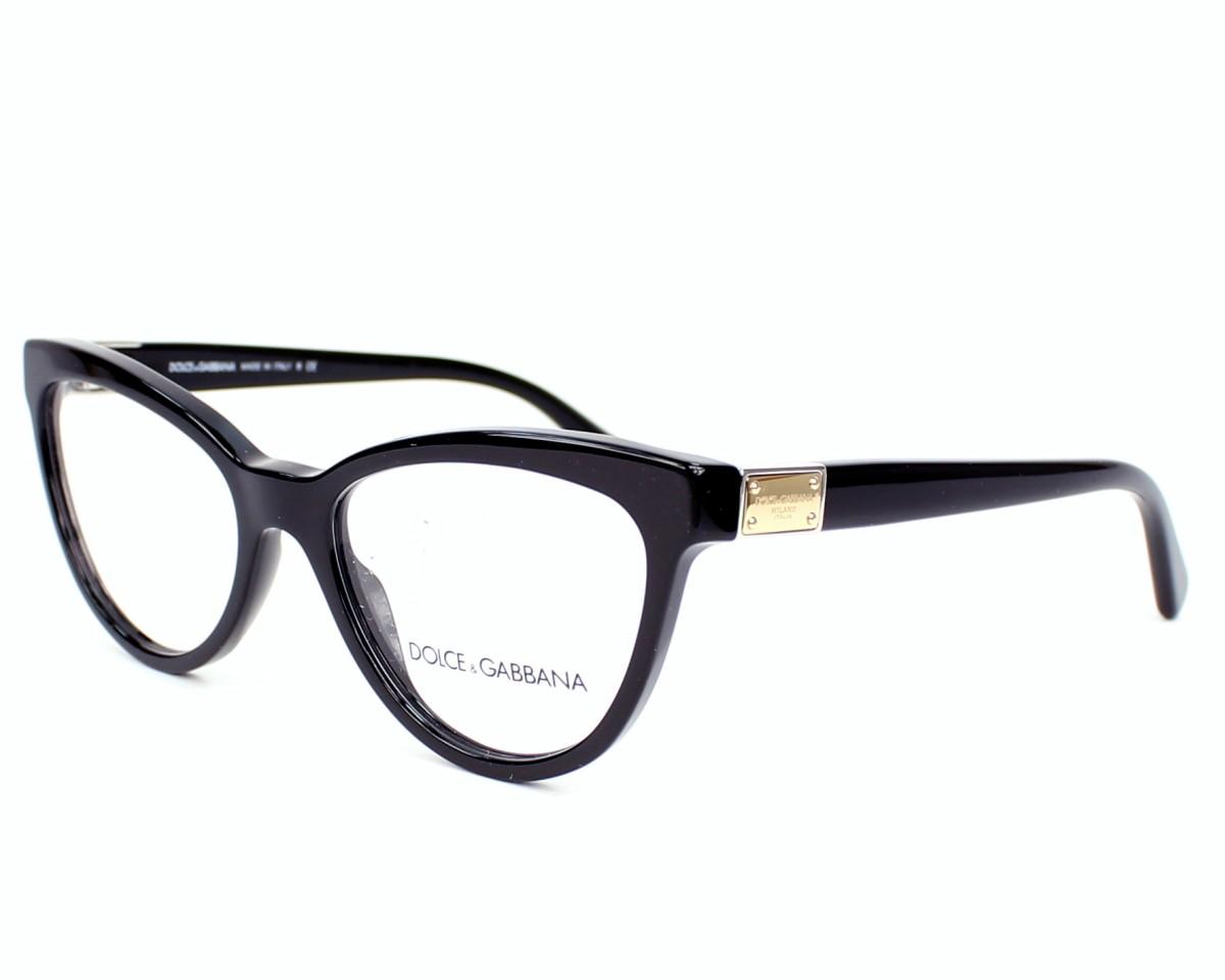 c1ce8790ad Gafas Graduadas Dolce & Gabbana DG-3169 501 - Negra Oro vista de perfil