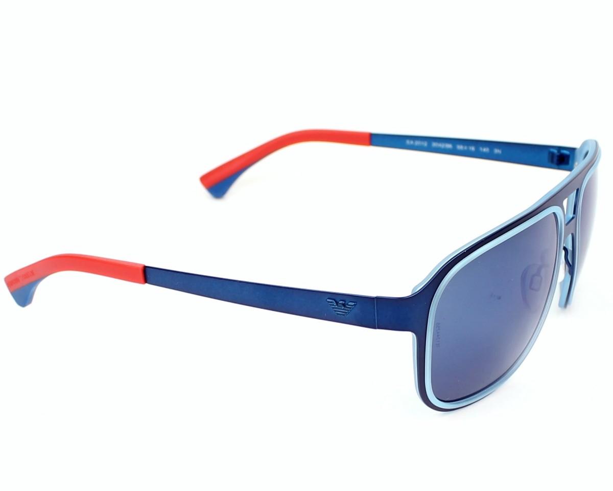 2cb327f681 Gafas de sol Emporio Armani EA-2012 3042/96 - Azul Naranja vista lateral