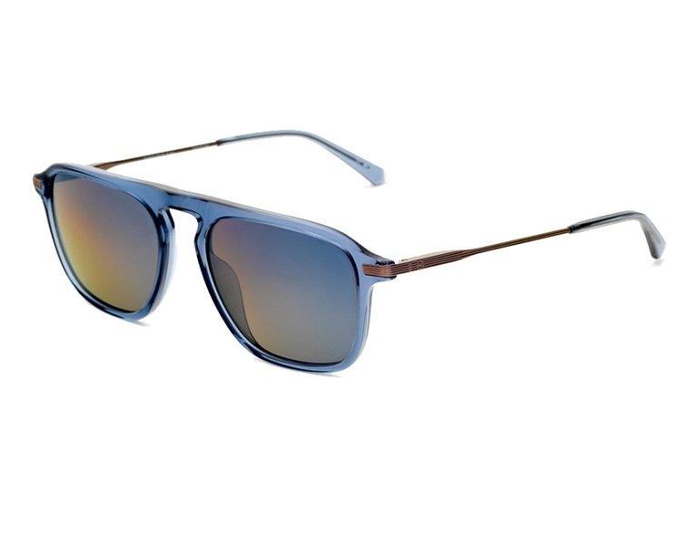 712b440310 Gafas de sol Etnia Barcelona RODEODRIVE BLGD 54-17 Azul Bronce vista de  perfil