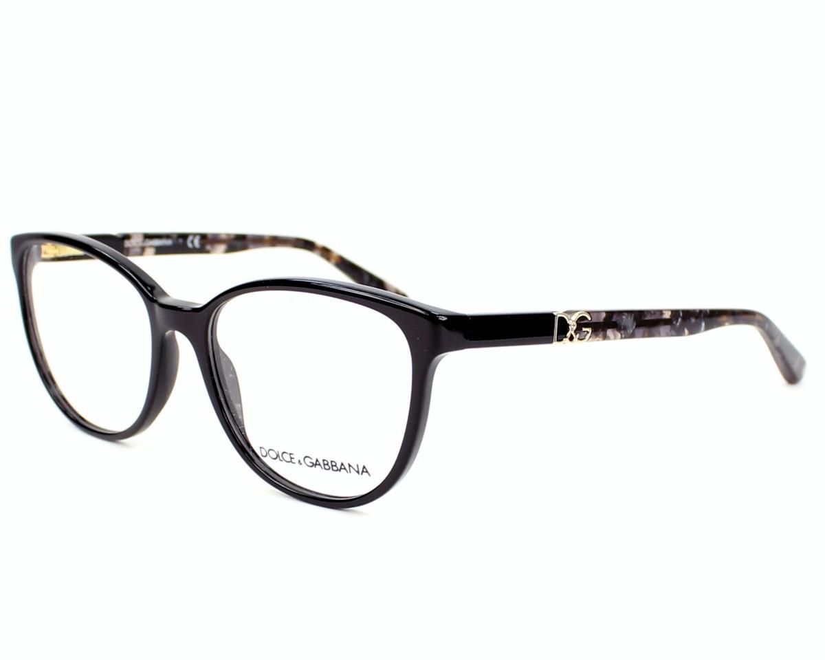 8d00d0af3d Gafas Graduadas Dolce & Gabbana DG-3154-P 2688 - Negra Gris vista de