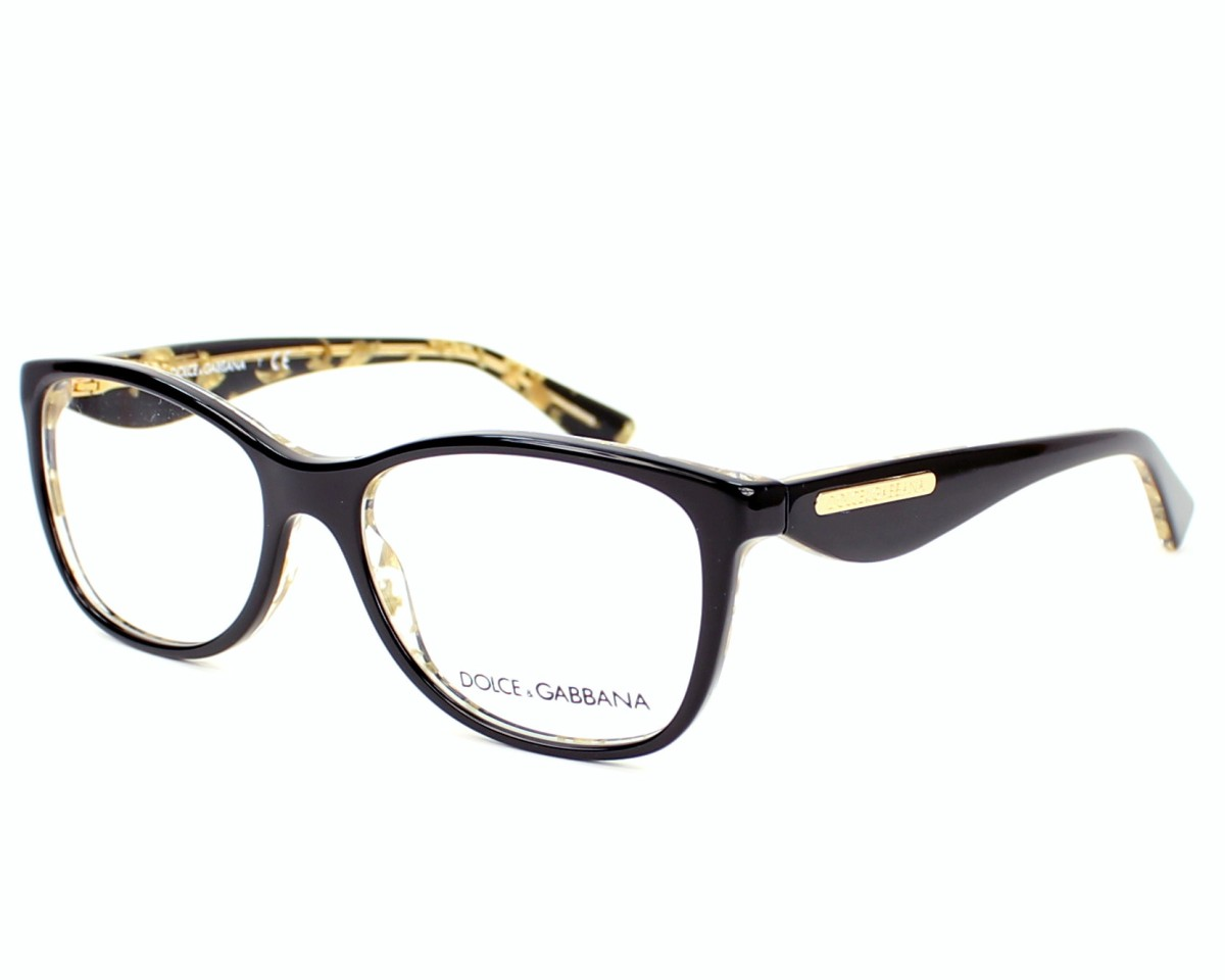 38161aa5a2 Gafas Graduadas Dolce & Gabbana DG-3174 2744 - Negra Oro vista de perfil