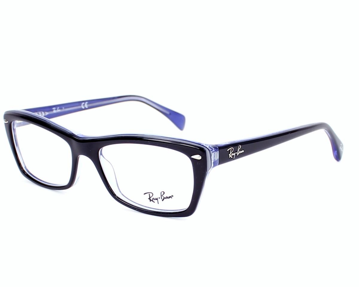 b52610f4ab Gafas Graduadas Ray-Ban RX-5255 5190 - Negra Lila Purpura vista de perfil