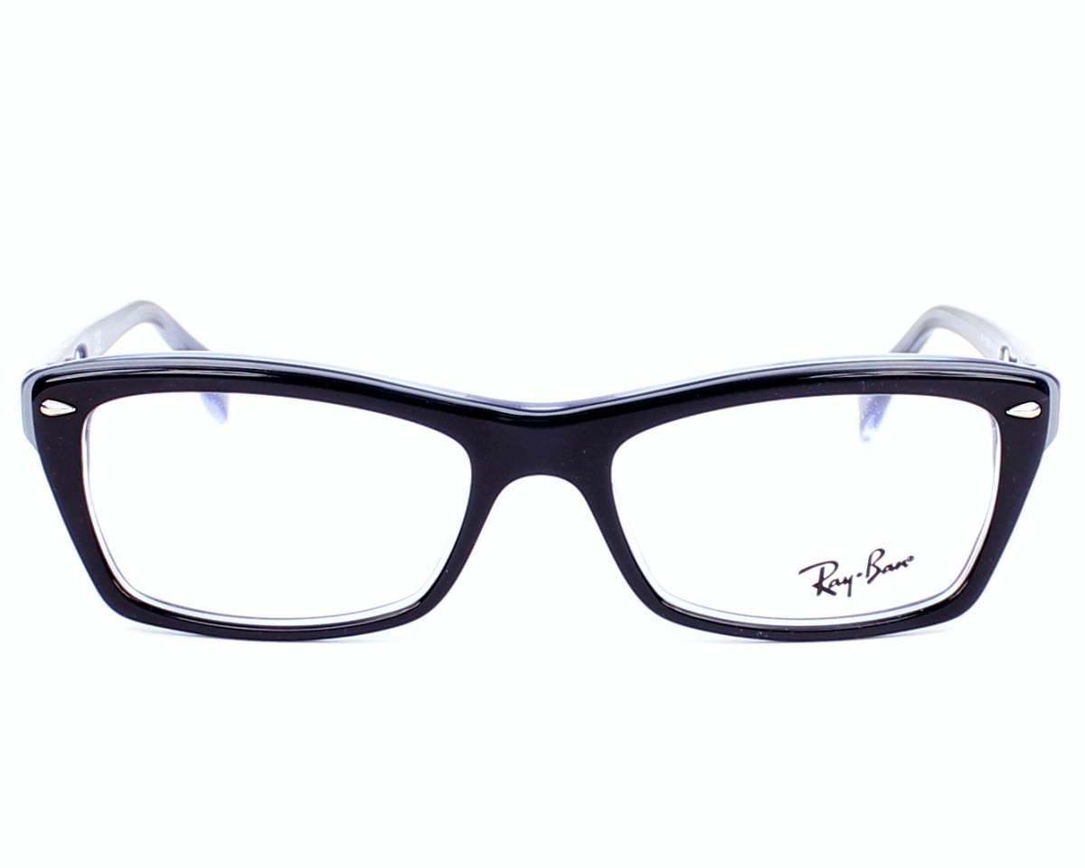 5460f490ed Gafas Graduadas Ray-Ban RX-5255 5190 - Negra Lila Purpura vista de frente