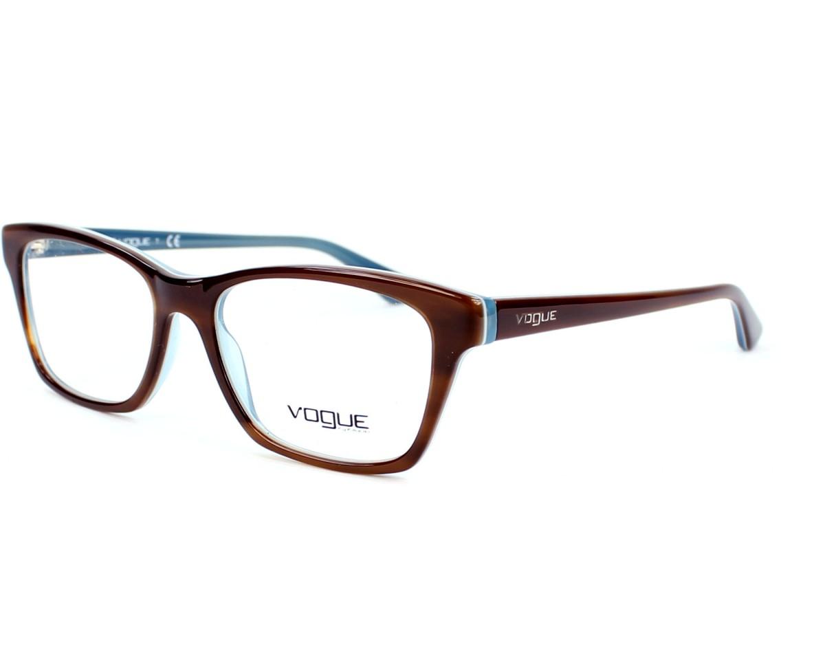 Gafas Graduadas Vogue VO-2714 2014 52-16 Marrón Azul vista de perfil 07c68f80ea83