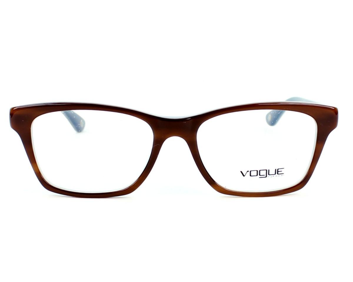 4ab9cb6cc3 Gafas Graduadas Vogue VO-2714 2014 52-16 Marrón Azul vista de frente