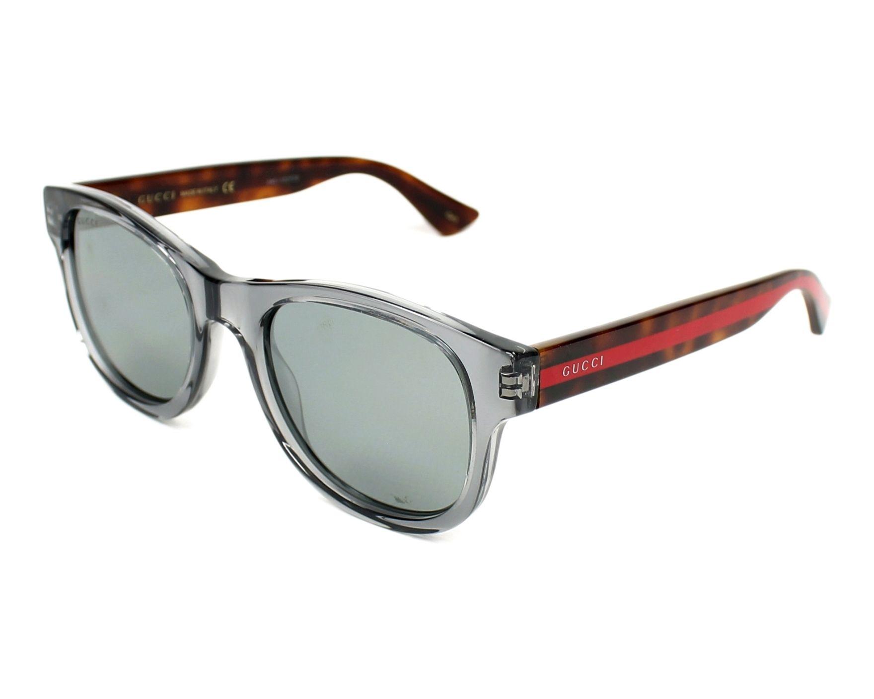7a77cff689 Gafas de sol Gucci GG-0003-S 005 52-21 Gris Havana vista
