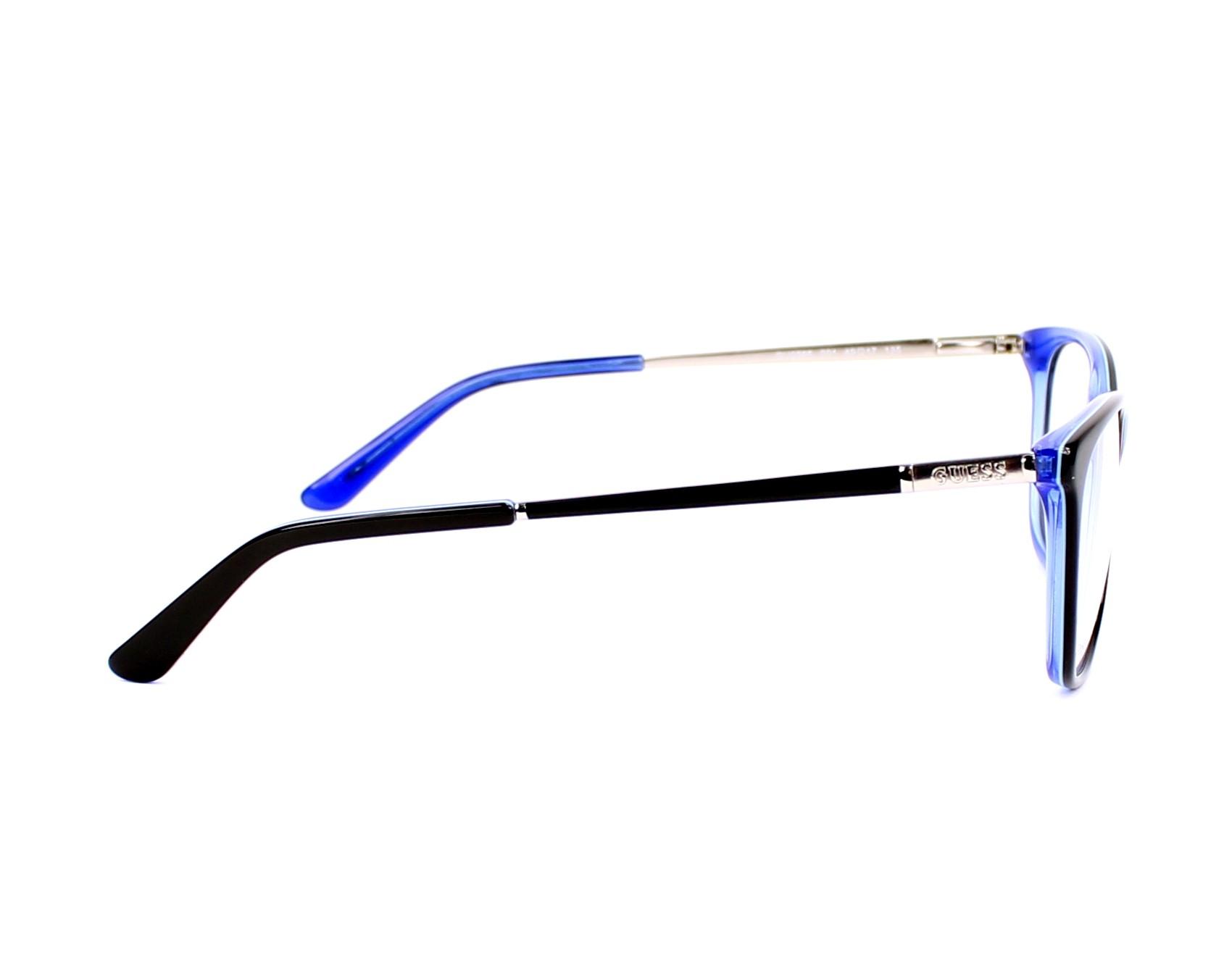 a6535d76d4 Gafas Graduadas Guess GU-2566 001 49-17 Negra Azul vista lateral