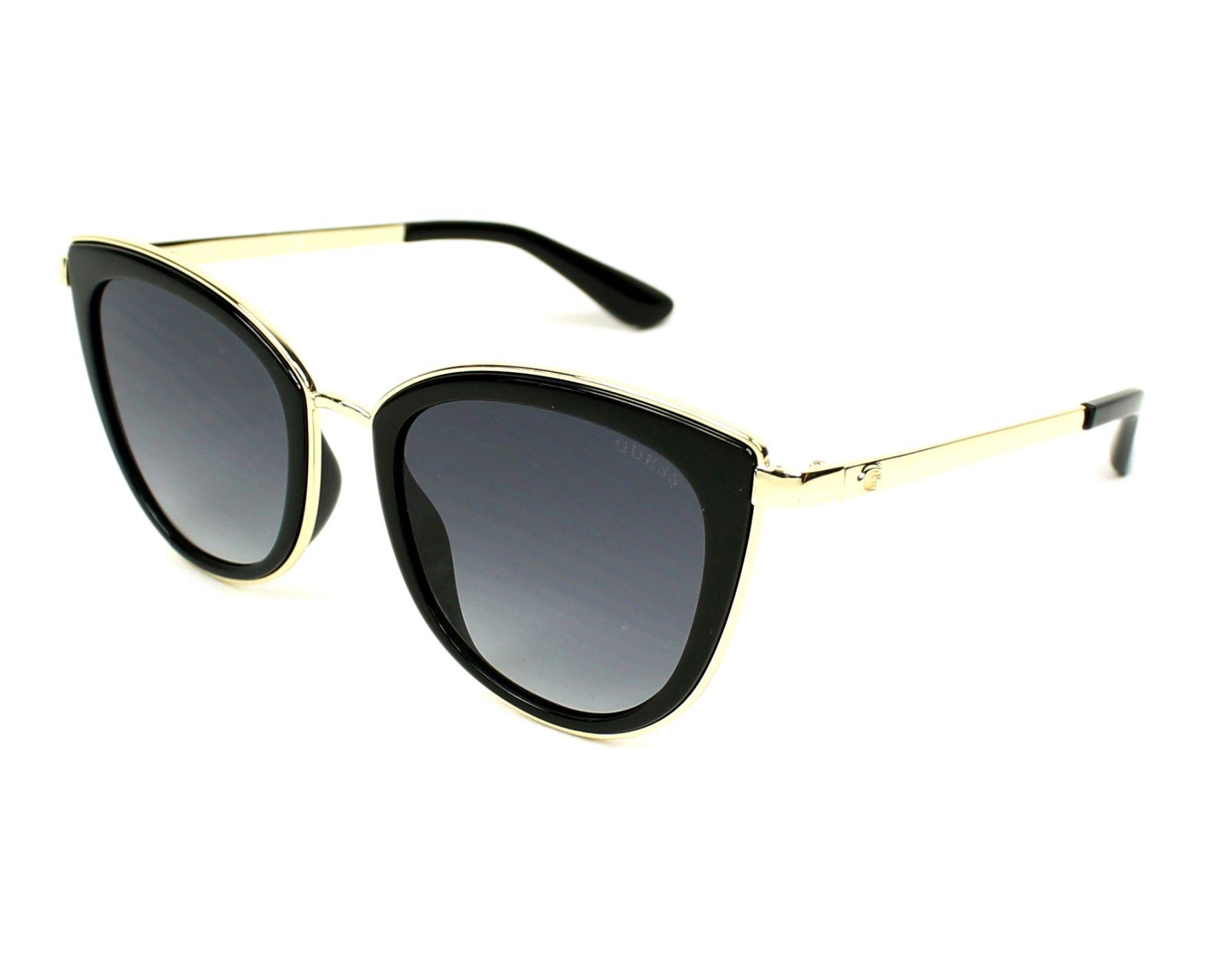 394a56d2ce Gafas de sol Guess GU-7491-S 01B 52-21 Negra Oro vista