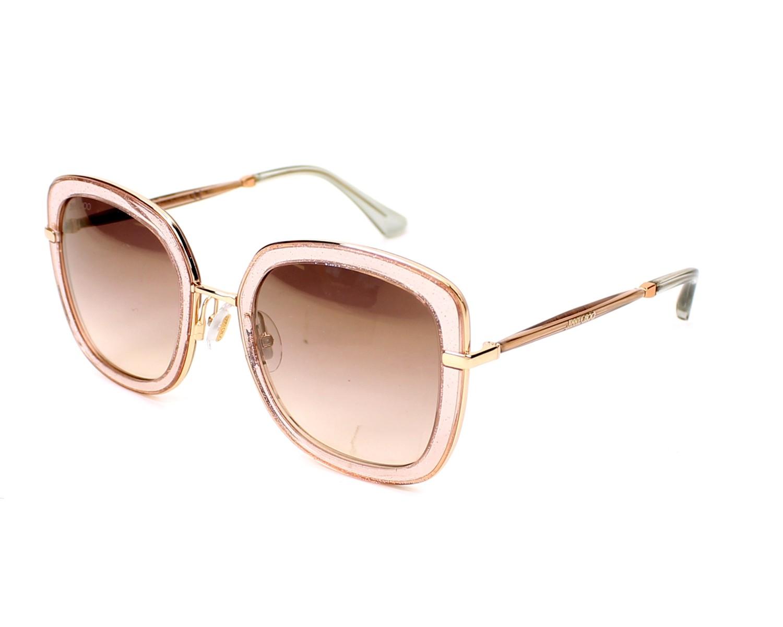 785cbfa214cb7 Gafas de sol Jimmy Choo GLENN-S QBQ NH 52-23 Rosa Transparente