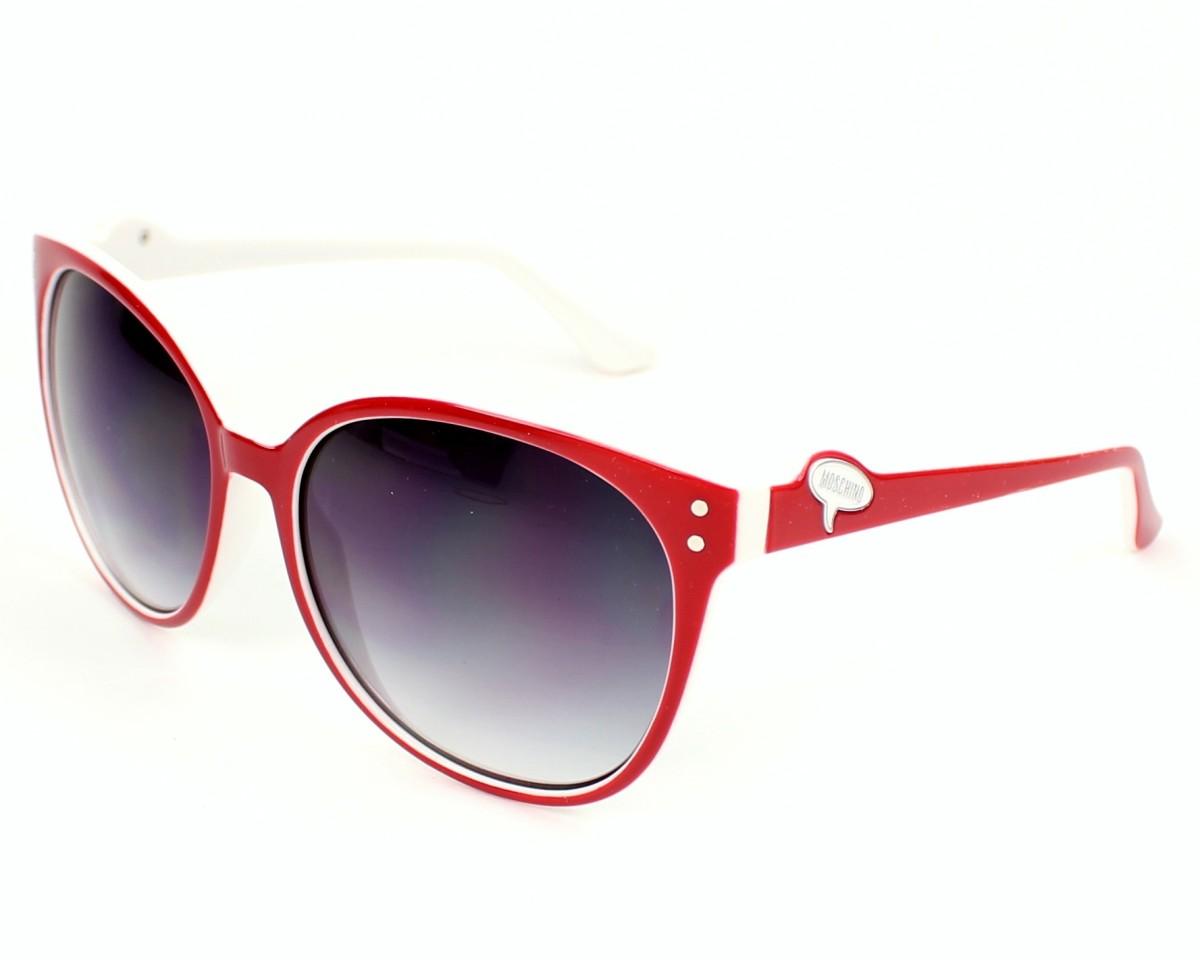 6f9665b507 Gafas de sol Moschino MO-681 03S - Rojo Blanco vista de perfil