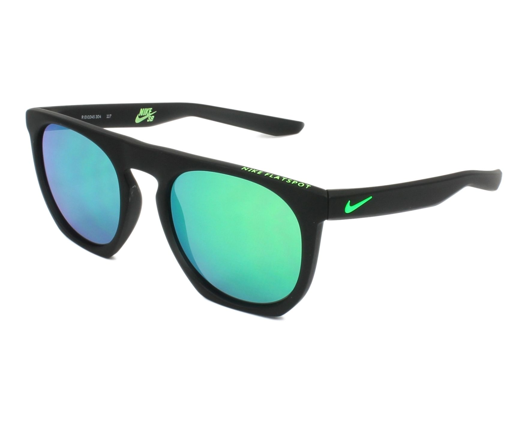 10066c033a Gafas de sol Nike EV-1045 304 - Negra Gris vista de perfil