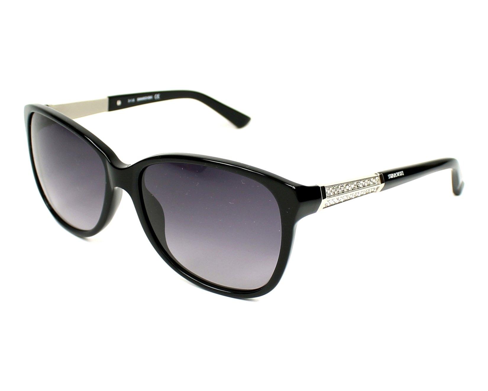 d3e848fdfe Gafas de sol Swarovski SW-83 01B - Negra Plata vista de perfil