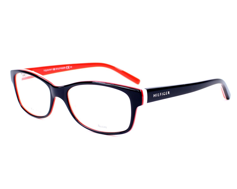 Gafas Graduadas Tommy Hilfiger TH-1018 UNN 52-16 Azul Rojo vista de perfil 998264b38dfb
