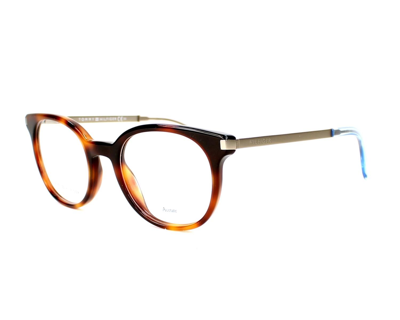 Gafas Graduadas Tommy Hilfiger TH-1380 QEB 48-20 Havana Plata vista de  perfil 43f89f0dece1