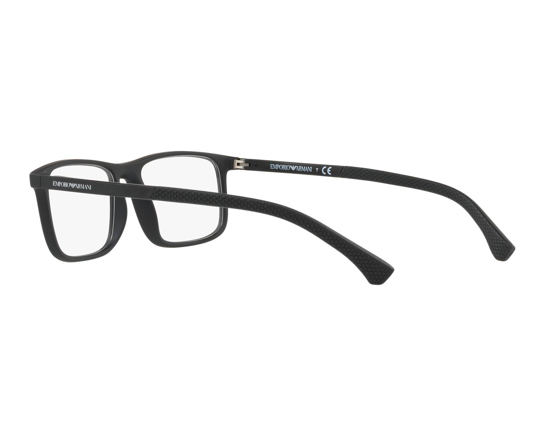 8ae42b51bd Gafas Graduadas Emporio Armani EA-3125 5063 53-17 Negra Negra Vista de 360