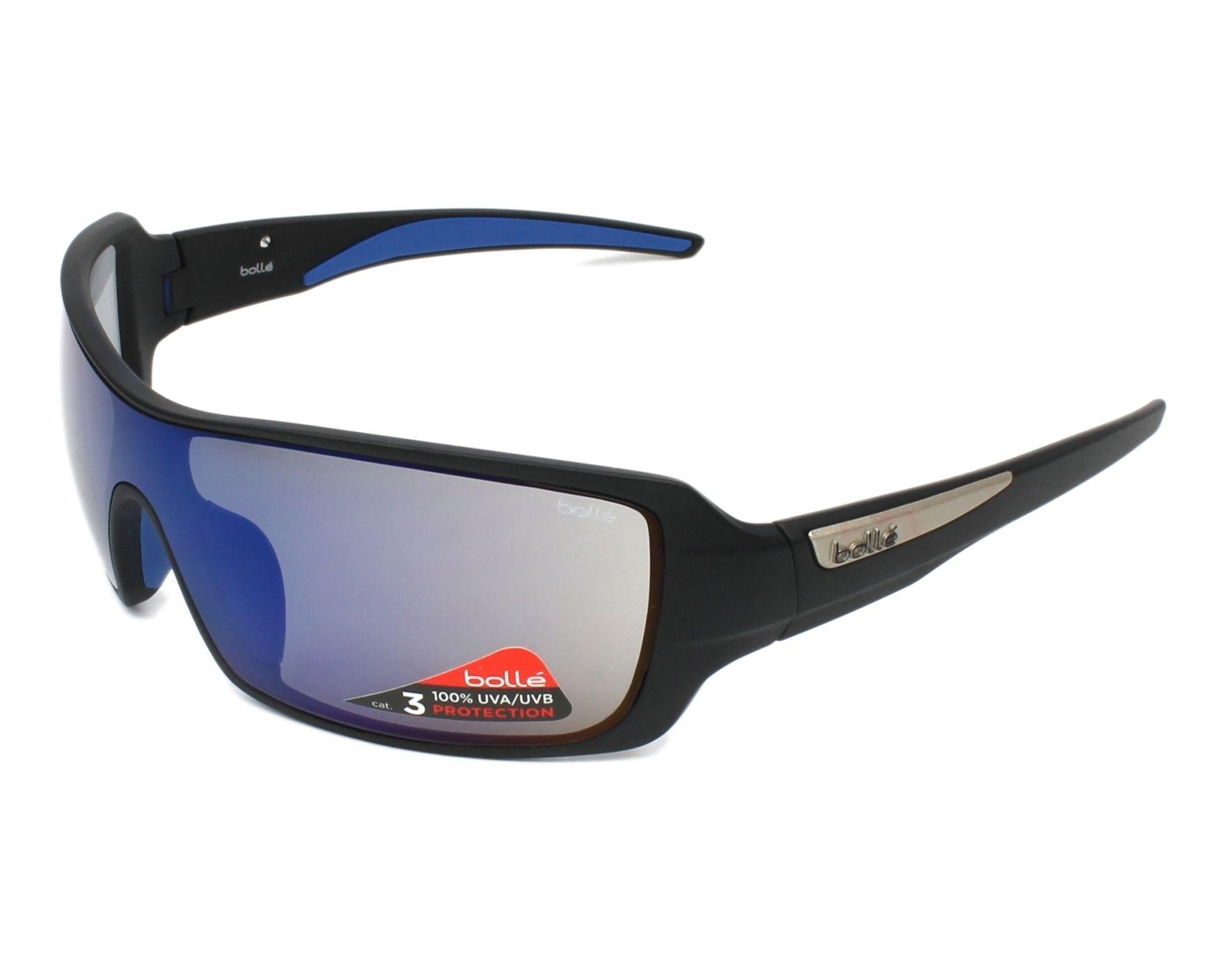1db82a6332 Gafas de sol Bollé DIAMONDBACK 11923 70-16 Negra Azul vista de perfil