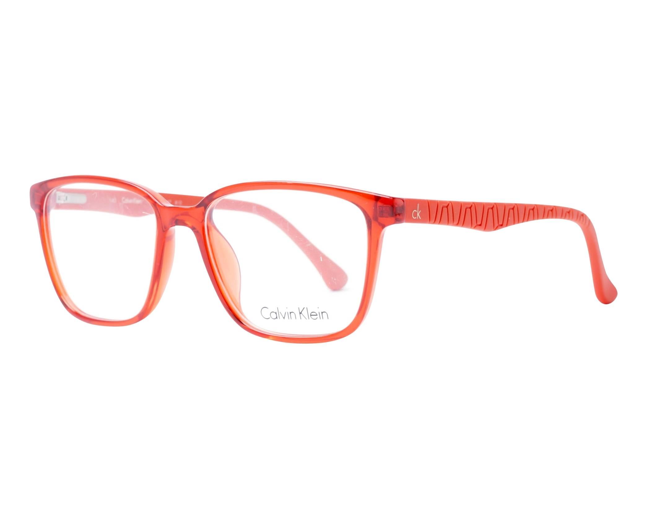 43a67d7076 Gafas Graduadas Calvin Klein CK-5857 810 53-17 Naranja Naranja vista de  perfil