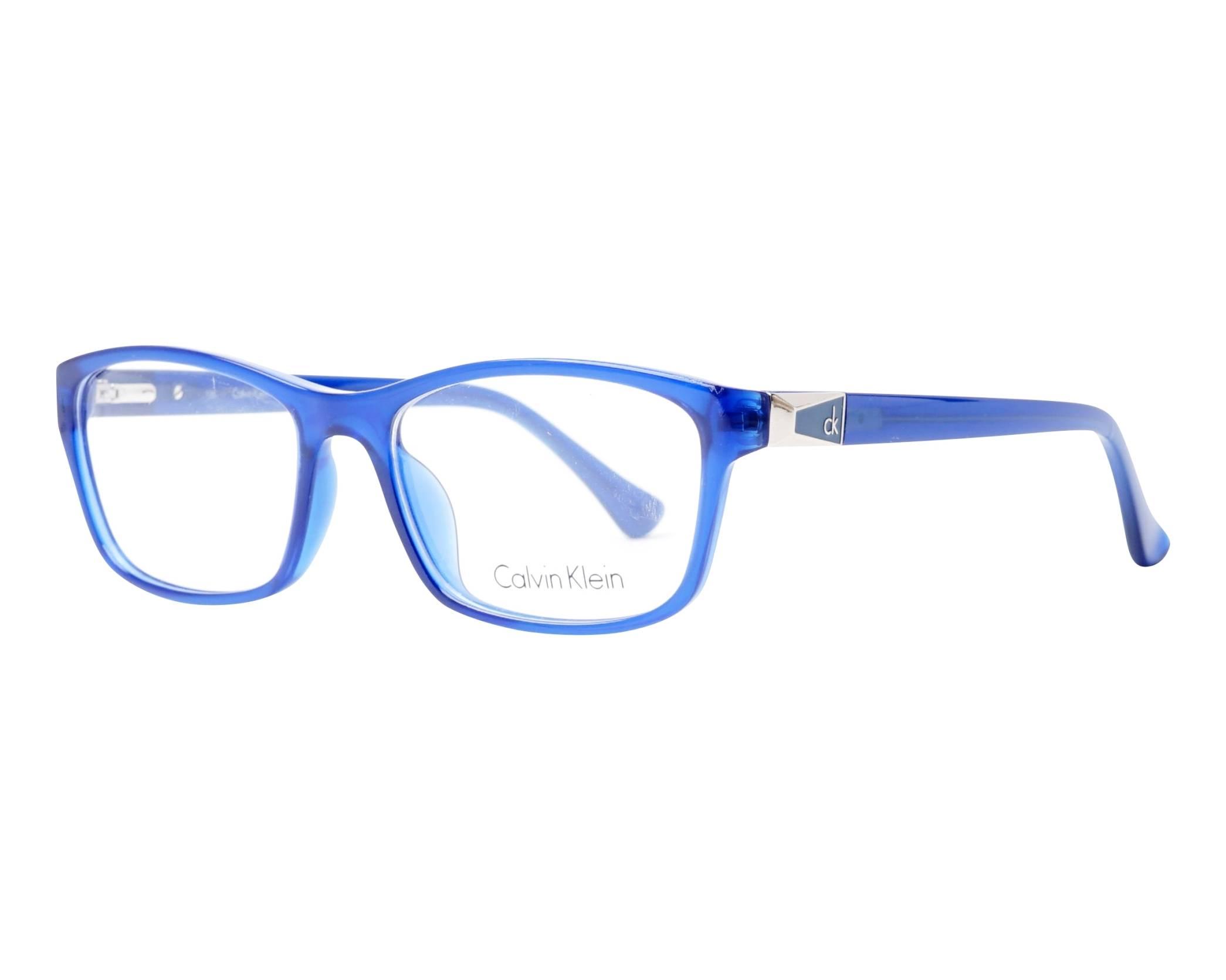 82ff2c4e69 Gafas Graduadas Calvin Klein CK-5861 424 53-17 Azul vista de perfil
