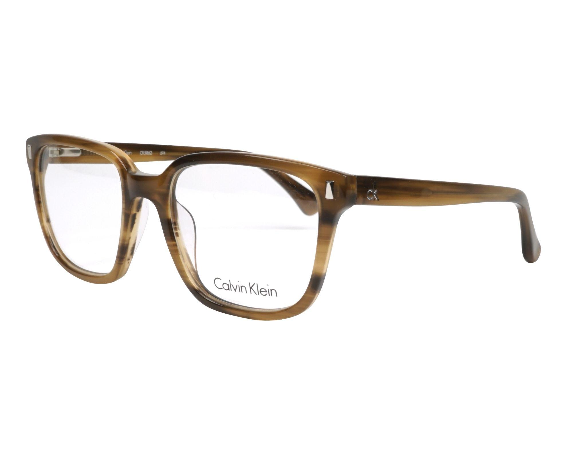 d55ded8bde Gafas Graduadas Calvin Klein CK-5862 274 52-19 Marrón Marrón vista de perfil