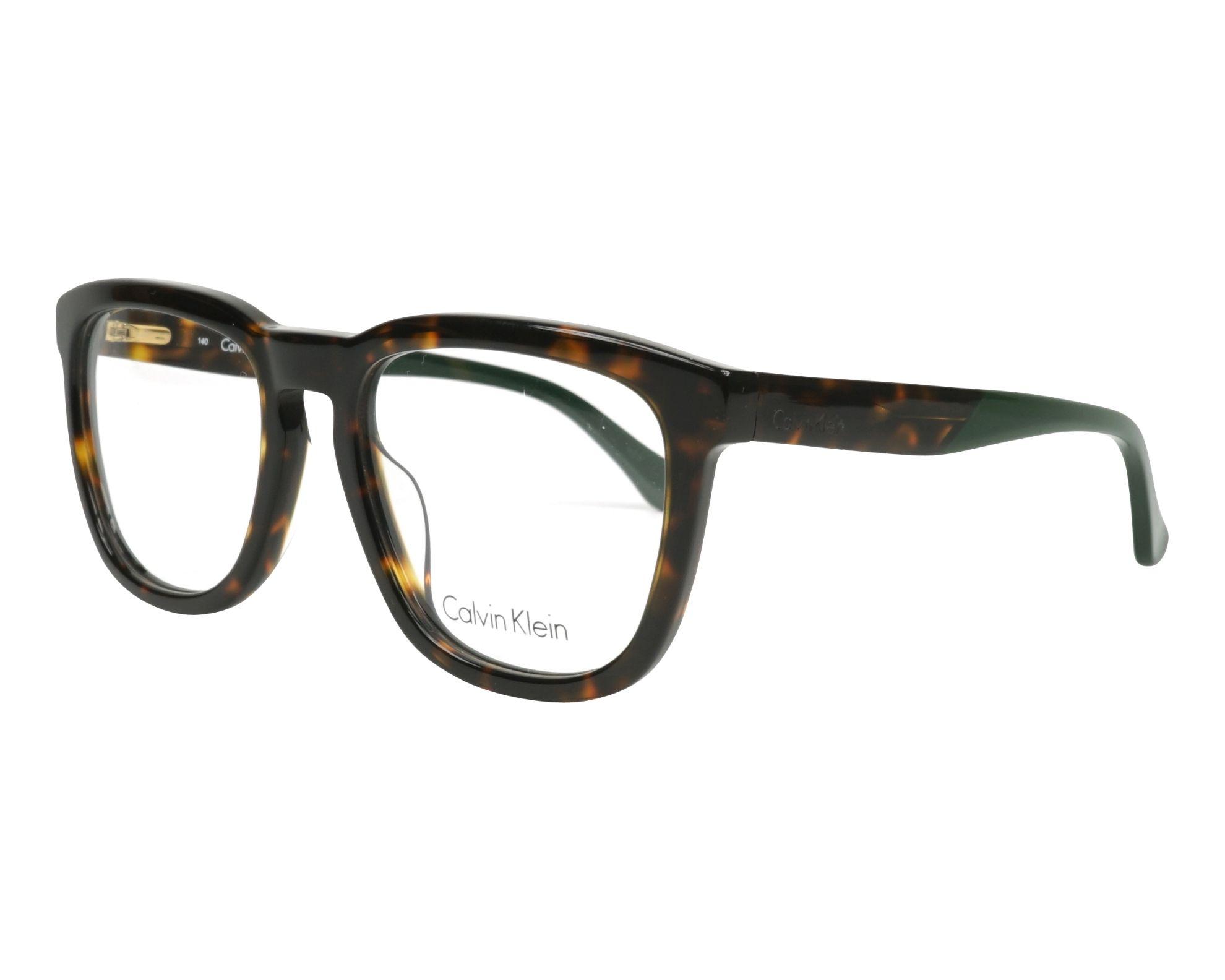 371f1b9d0c Gafas Graduadas Calvin Klein CK-5924 214 54-19 Havana Verde vista de perfil