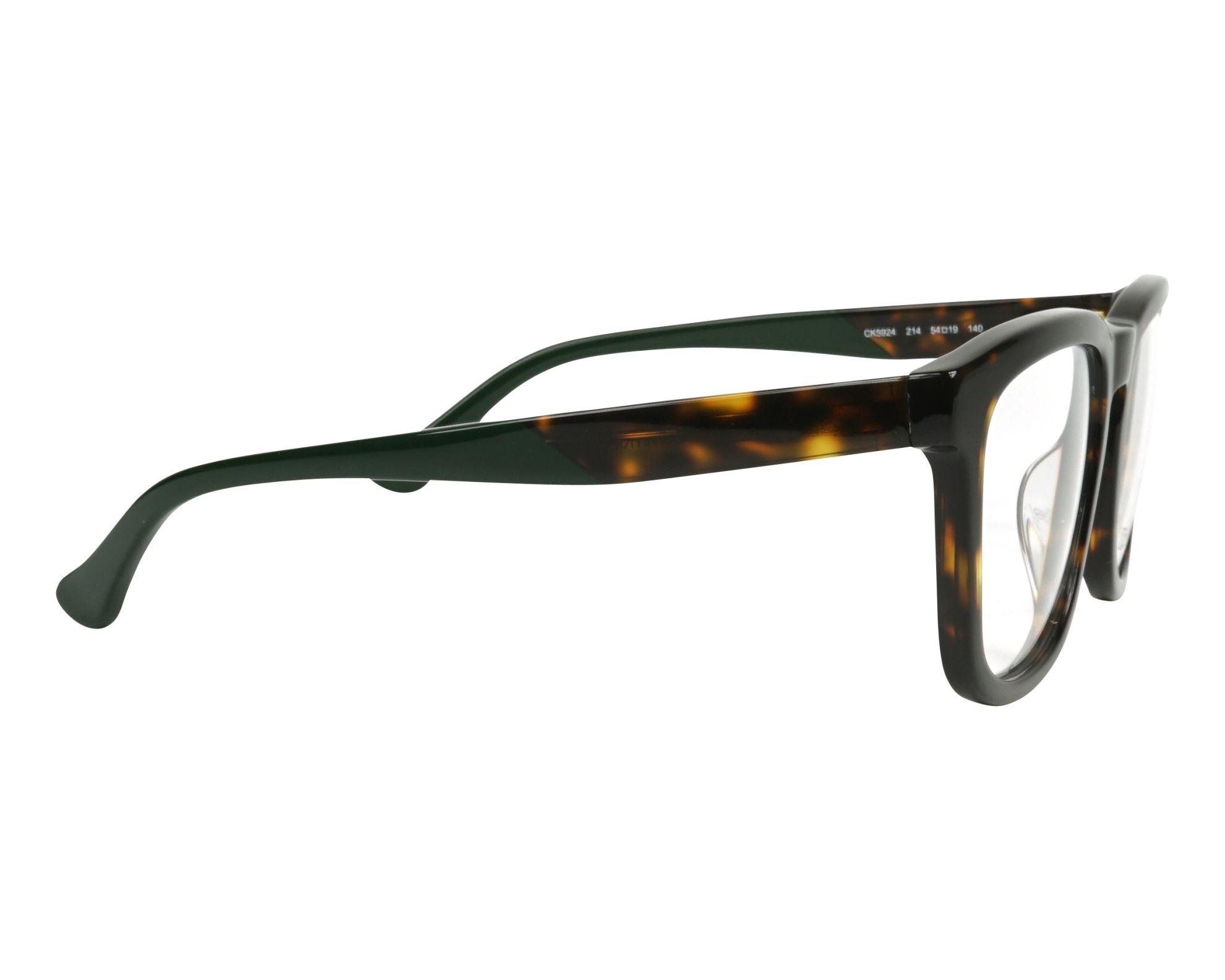 6877cb88cc Gafas Graduadas Calvin Klein CK-5924 214 54-19 Havana Verde vista lateral