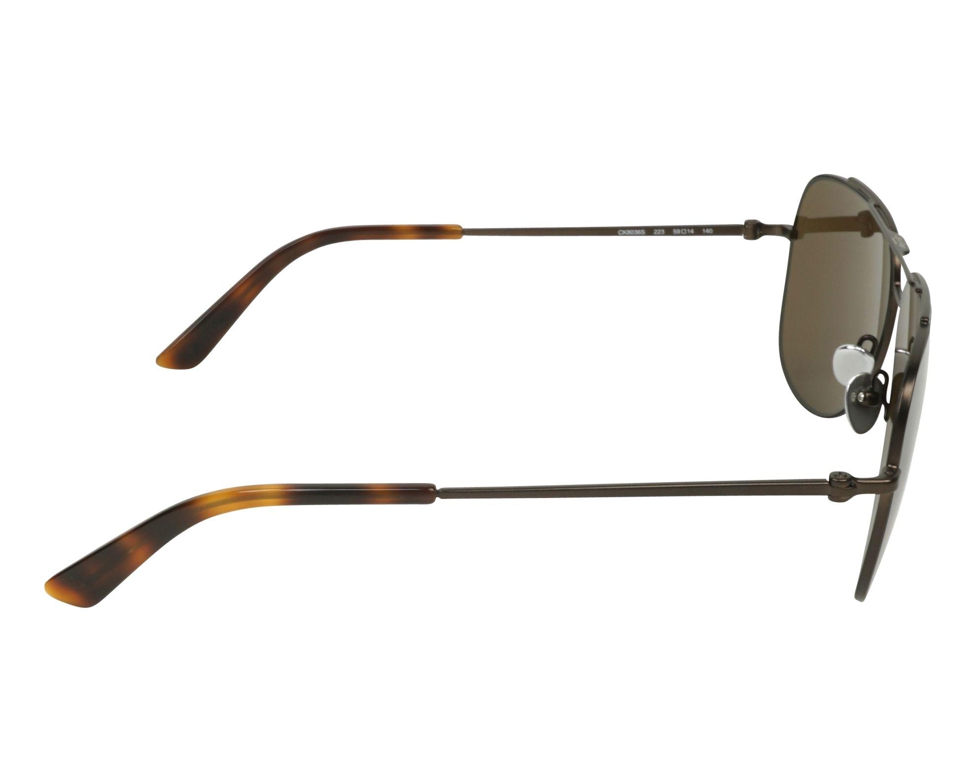 613e396877 Gafas de sol Calvin Klein CK-8036-S 223 59-14 Marrón vista
