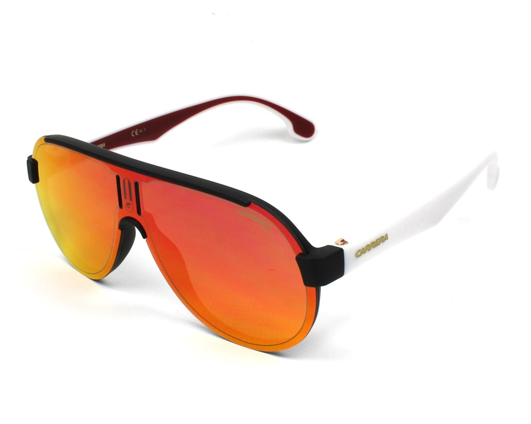 02f49f1e2f Gafas de sol Carrera 1008-S 4NL/UZ - Negra Blanco vista de perfil
