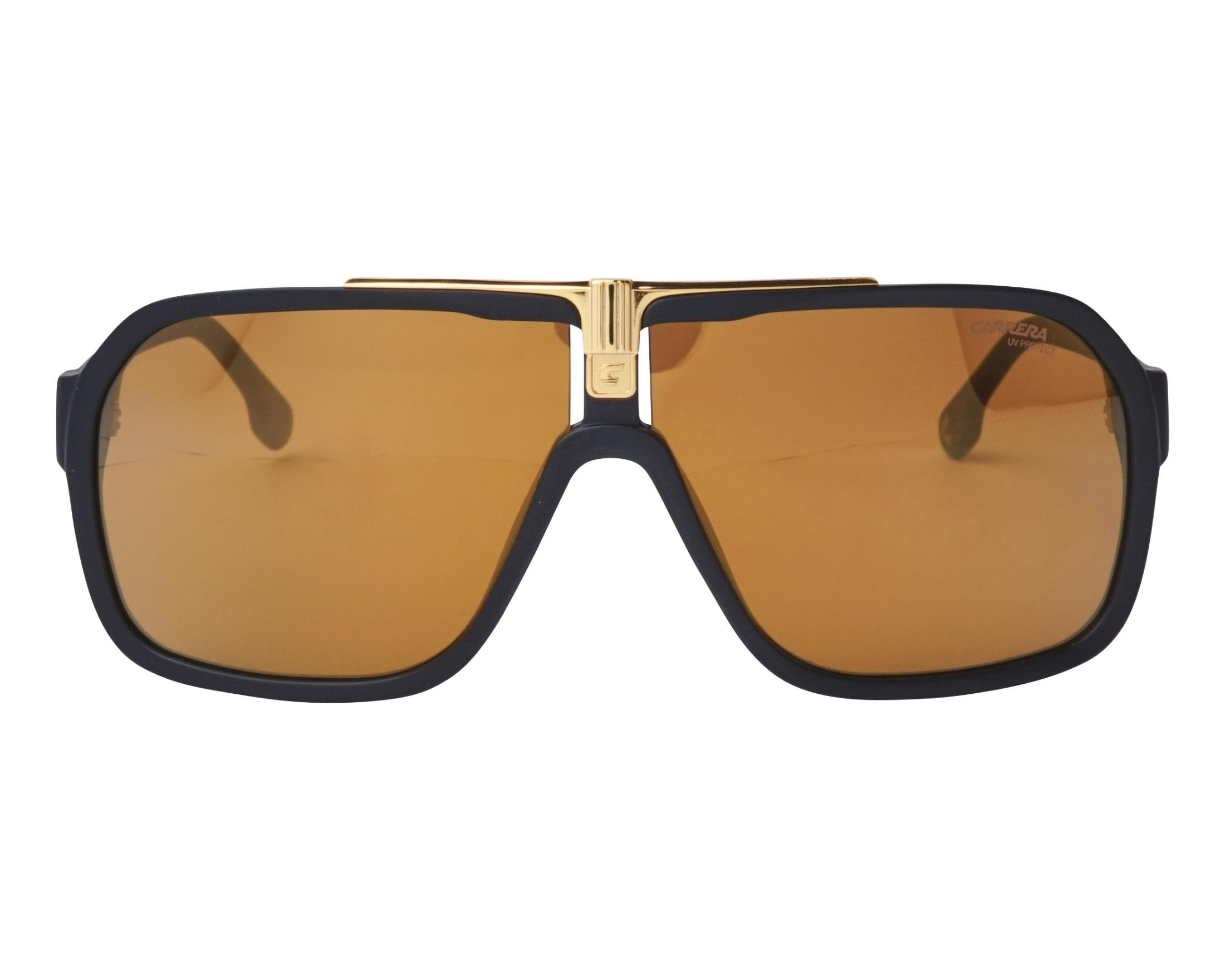 6c36a711e8 Gafas de sol Carrera 1014-S I46K1 64-10 Negra Oro vista de frente