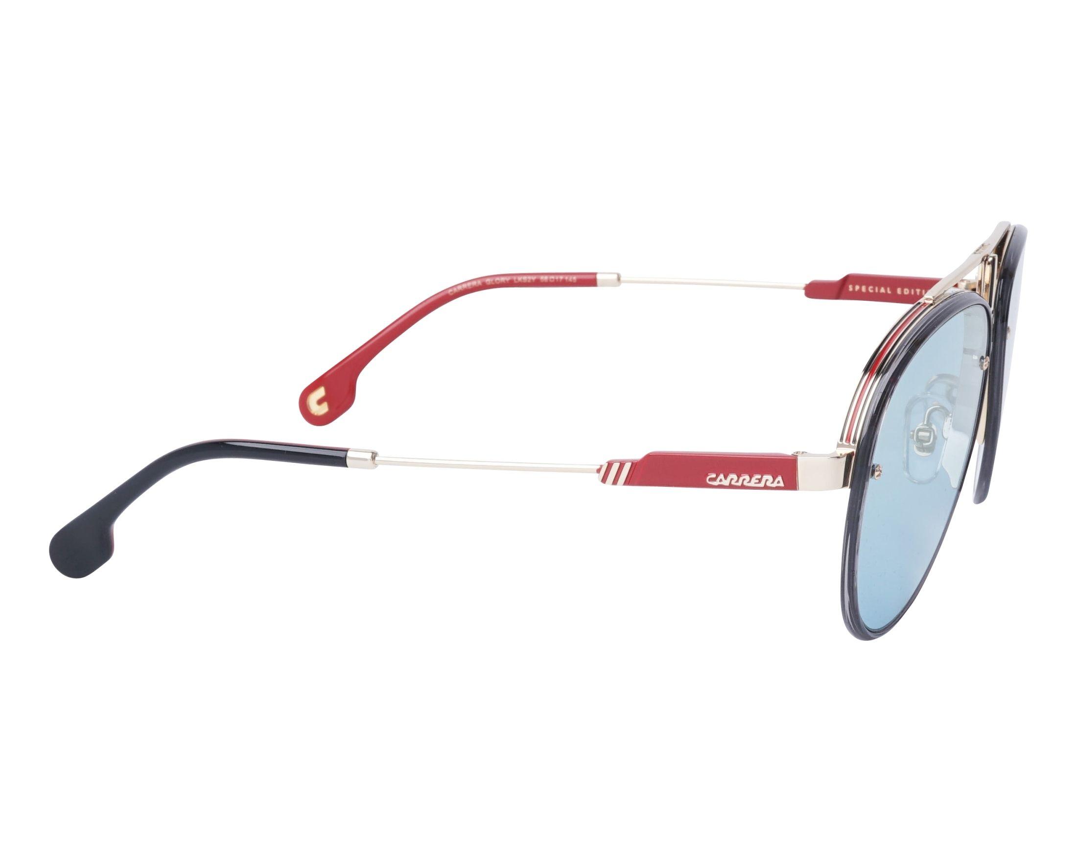 Gafas de sol Carrera GLORY LKS2Y 58-17 Oro Gris vista lateral 01a05848fe