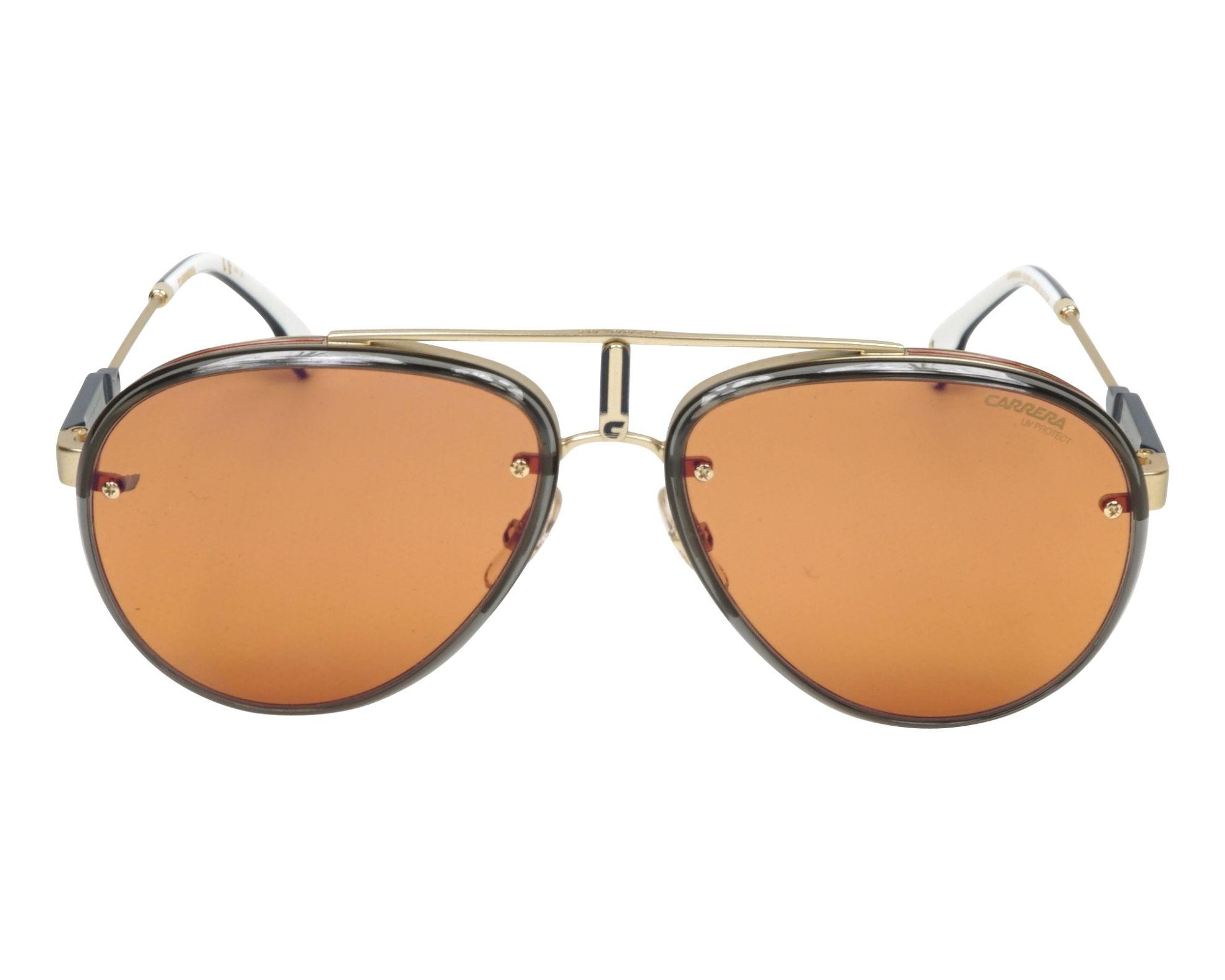 Gafas de sol Carrera GLORY OFY DP 58-17 Oro Gris vista de frente 287757b388