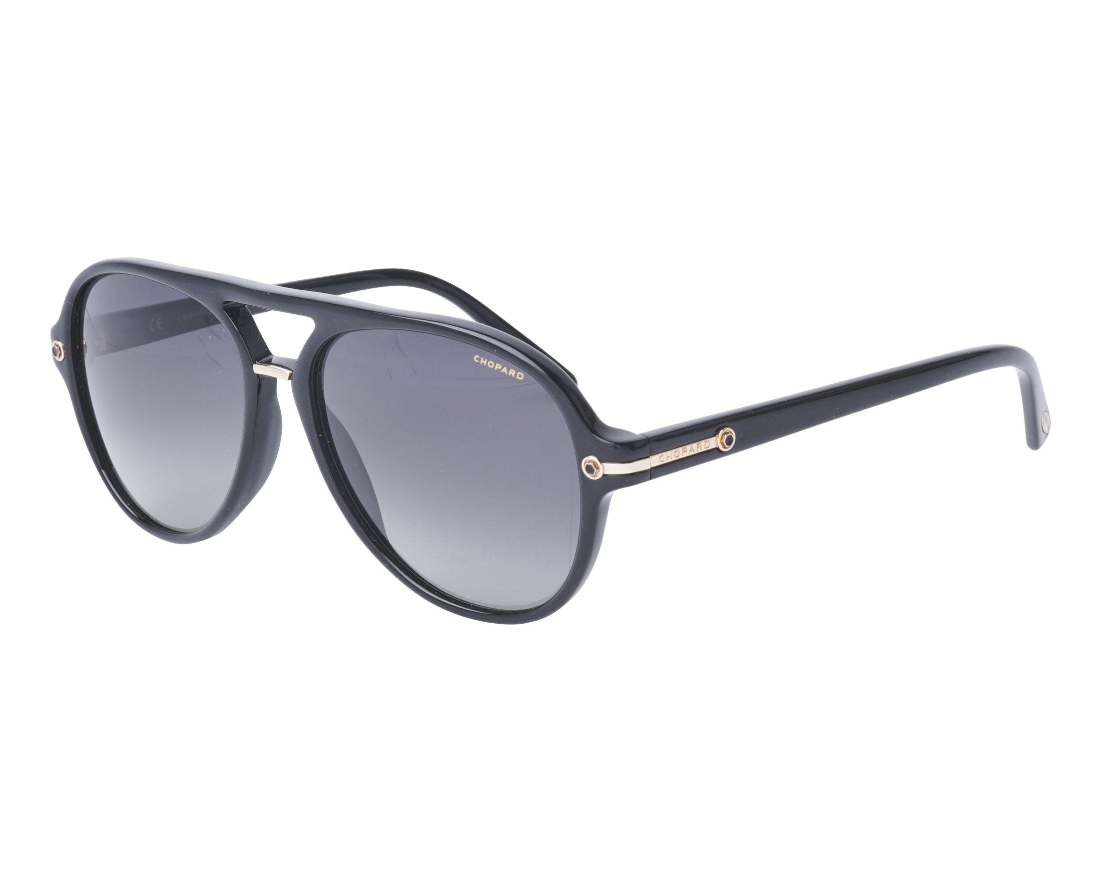51a8f8b65a Gafas de sol Chopard SCH-193 700P 58-16 Negra vista de perfil