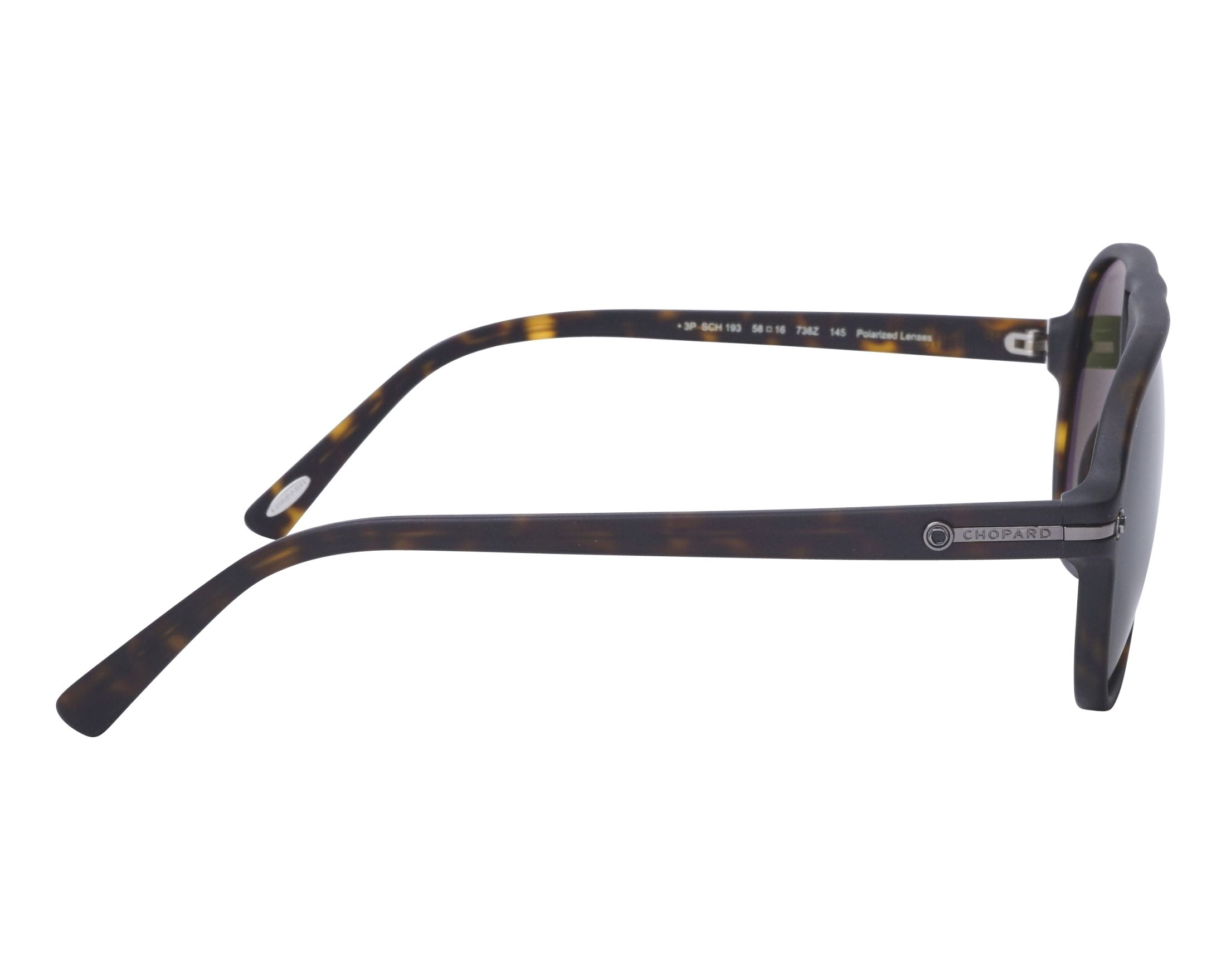 af1446cd39 Gafas de sol Chopard SCH-193 738Z 58-16 Havana vista lateral