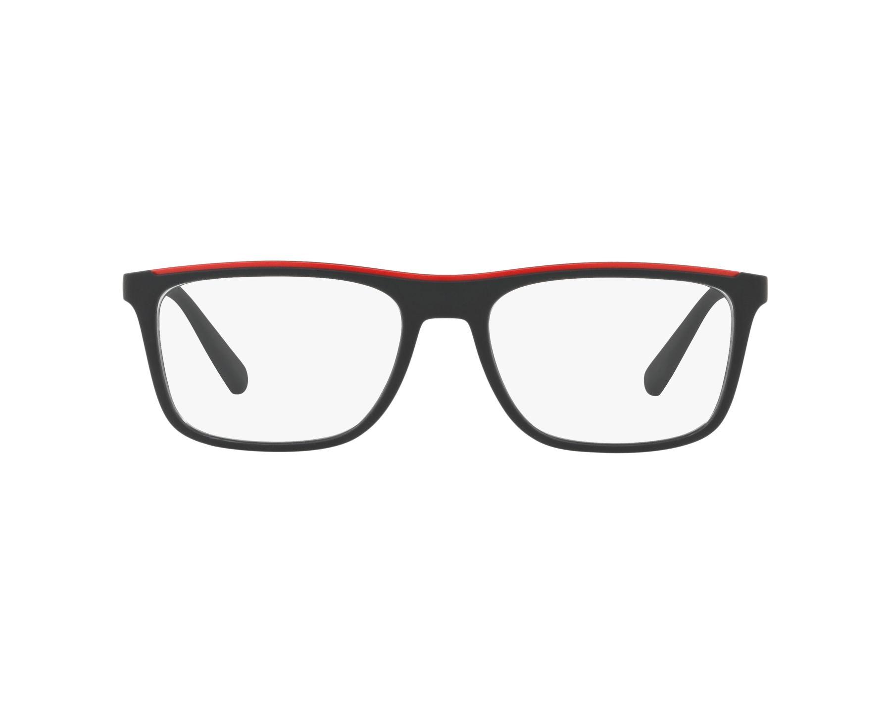 f4b12cc8b0746 Gafas Graduadas Emporio Armani EA-3124 5042 53-17 Negra Rojo Vista de 360