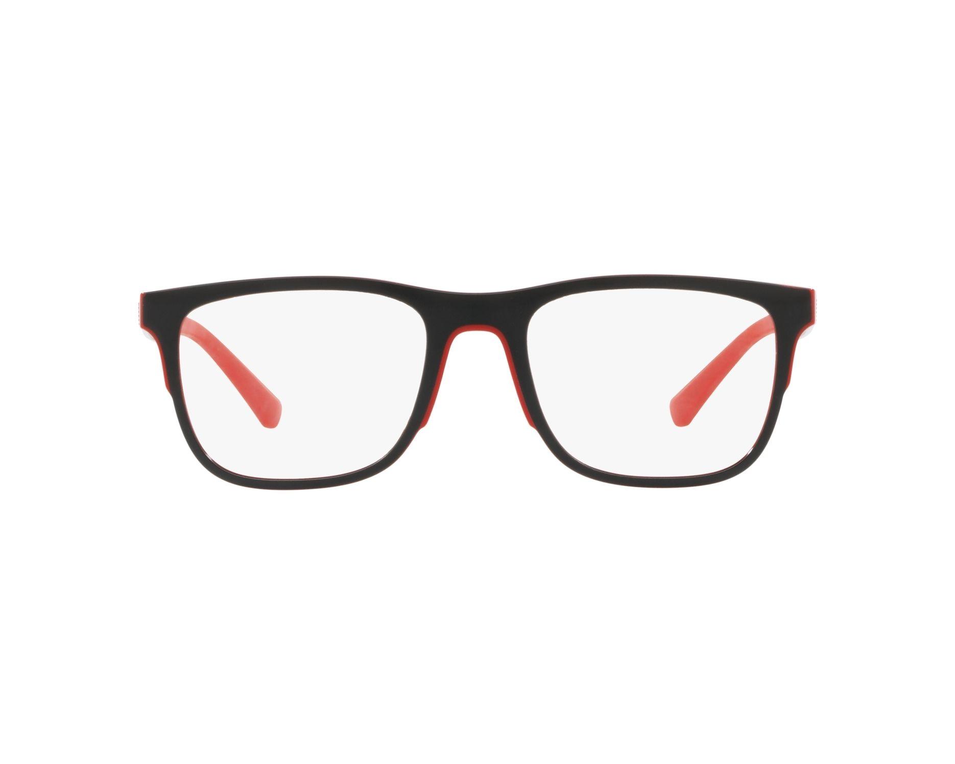 370ea9cf5fe19 Gafas Graduadas Emporio Armani EA-3133 5665 - Negra Rojo Vista de 360  grados 1