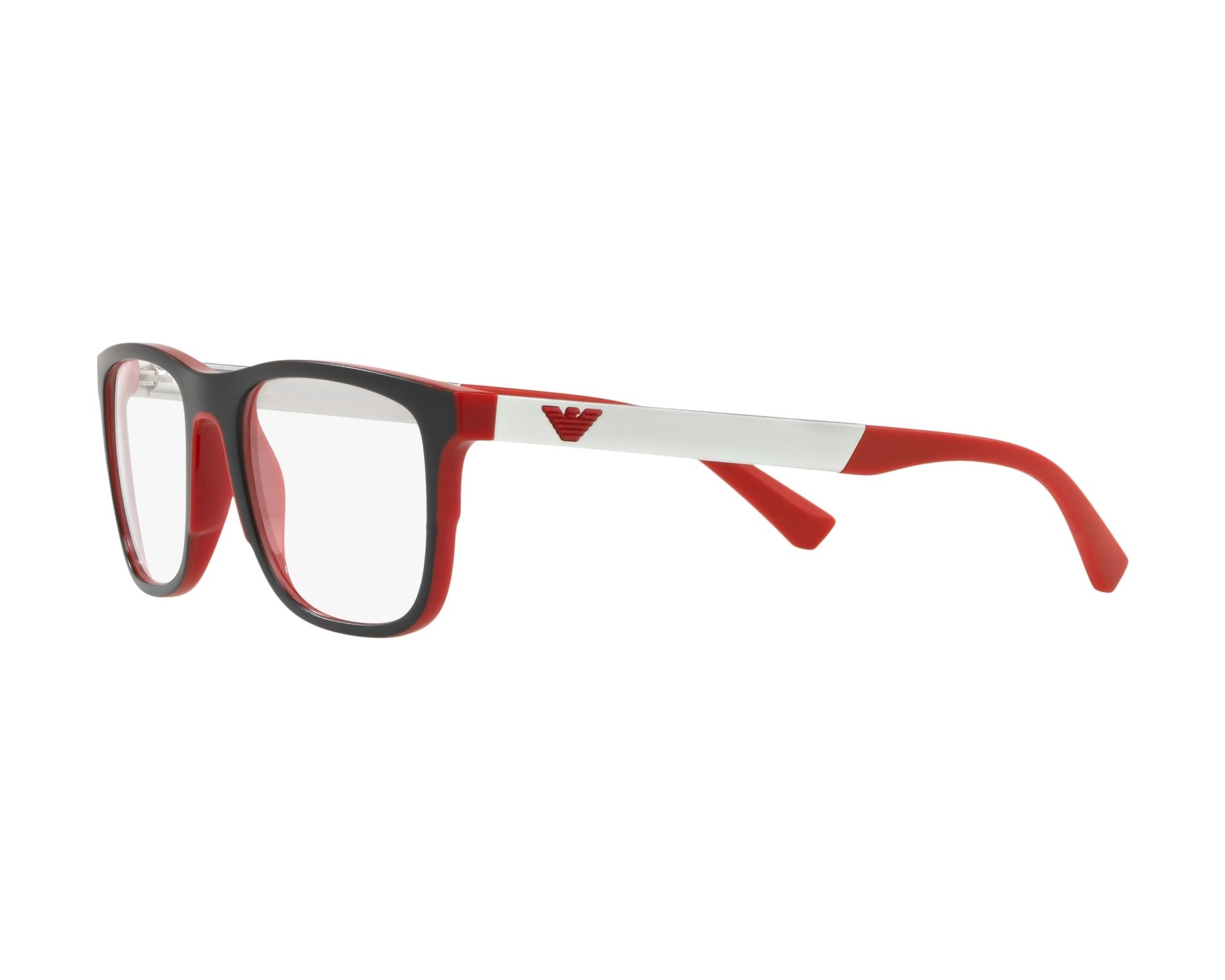 1f4d78936c466 Gafas Graduadas Emporio Armani EA-3133 5665 - Negra Rojo Vista de 360  grados 3