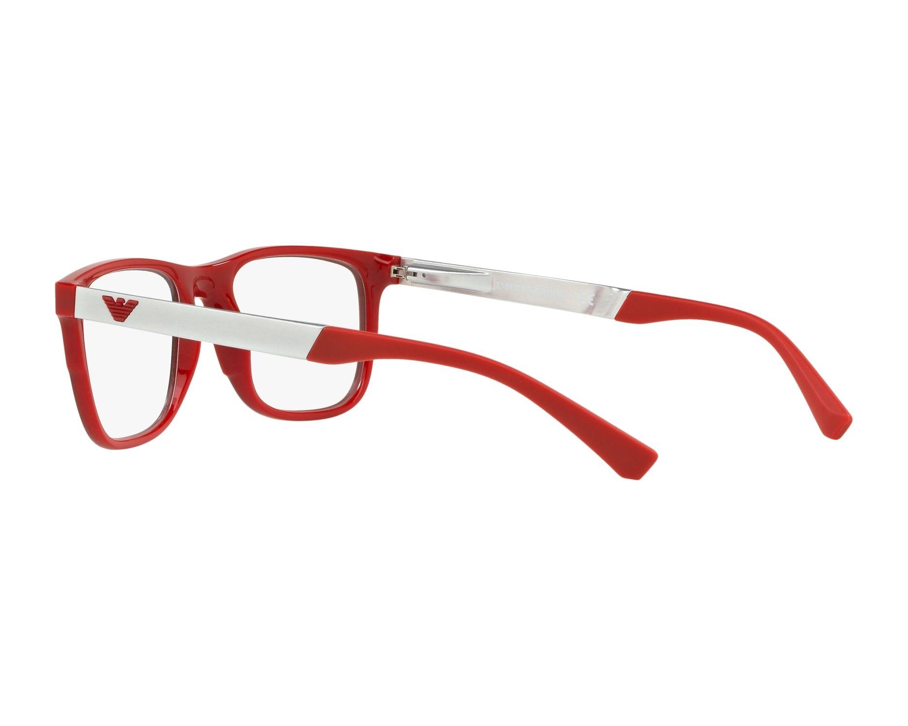 a21a8decc0fd8 Gafas Graduadas Emporio Armani EA-3133 5665 - Negra Rojo Vista de 360  grados 5