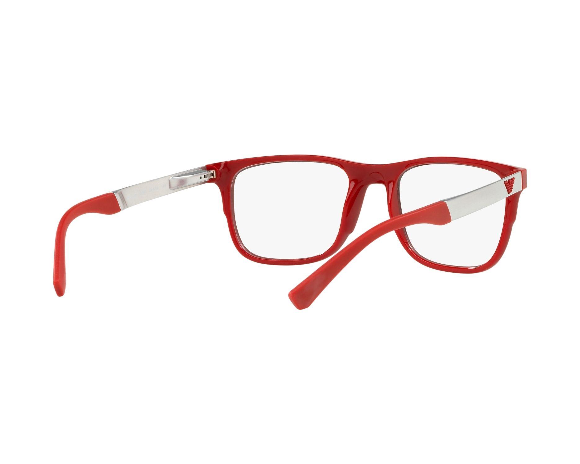015c62383753c Gafas Graduadas Emporio Armani EA-3133 5665 - Negra Rojo Vista de 360  grados 8