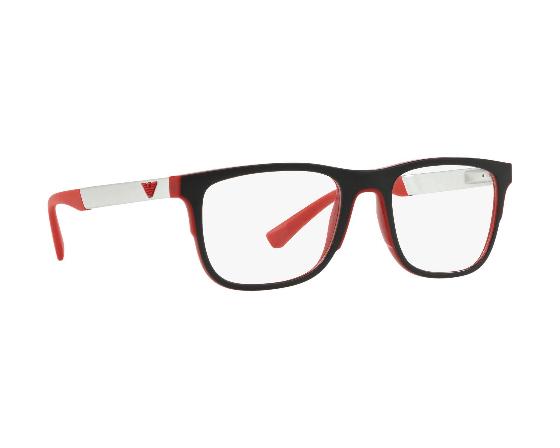 38bbbd908ad81 Gafas Graduadas Emporio Armani EA-3133 5665 - Negra Rojo Vista de 360  grados 12