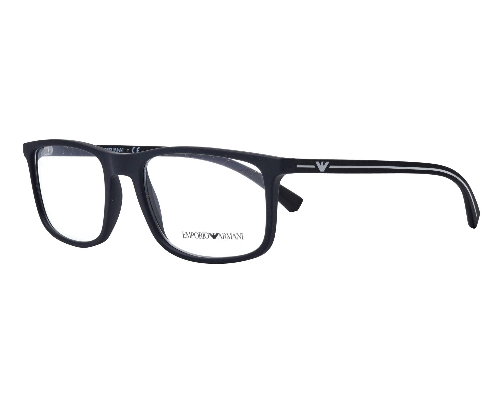 6104d39120 Gafas Graduadas Emporio Armani EA-3135 5063 53-18 Negra Gun vista de perfil